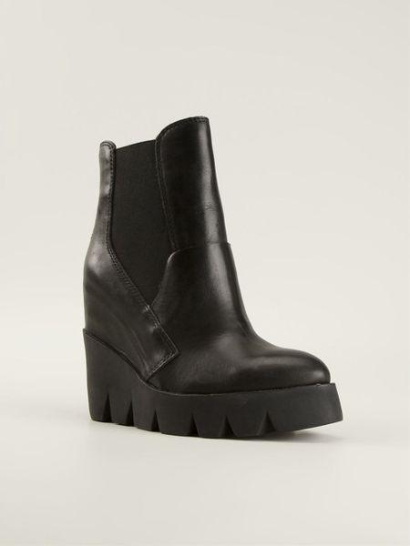 ash platform wedge chelsea boots in black lyst