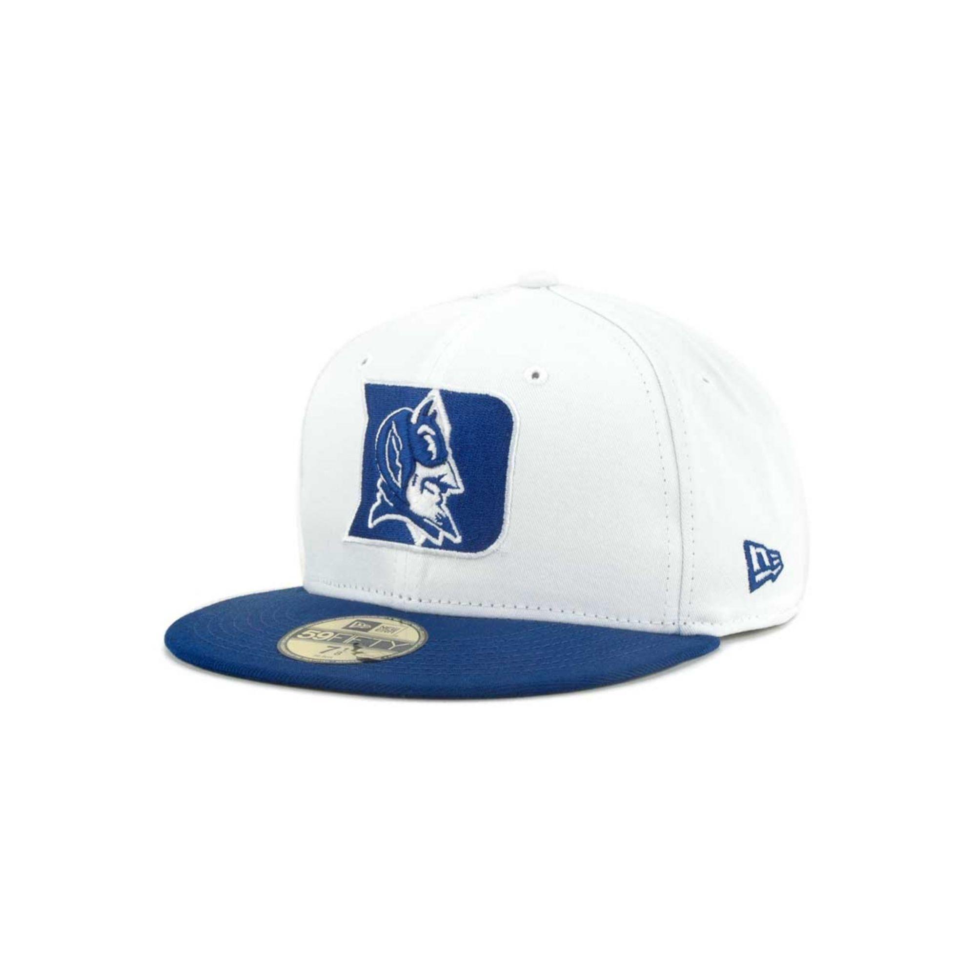 buy online cef44 8a559 KTZ Duke Blue Devils Ncaa White 2 Tone 59fifty Cap in Blue for Men ...