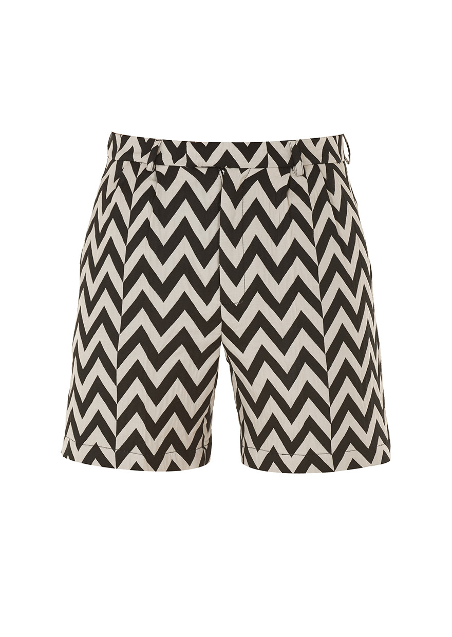 House Of Holland Zig Zag Shorts In Black For Men Lyst