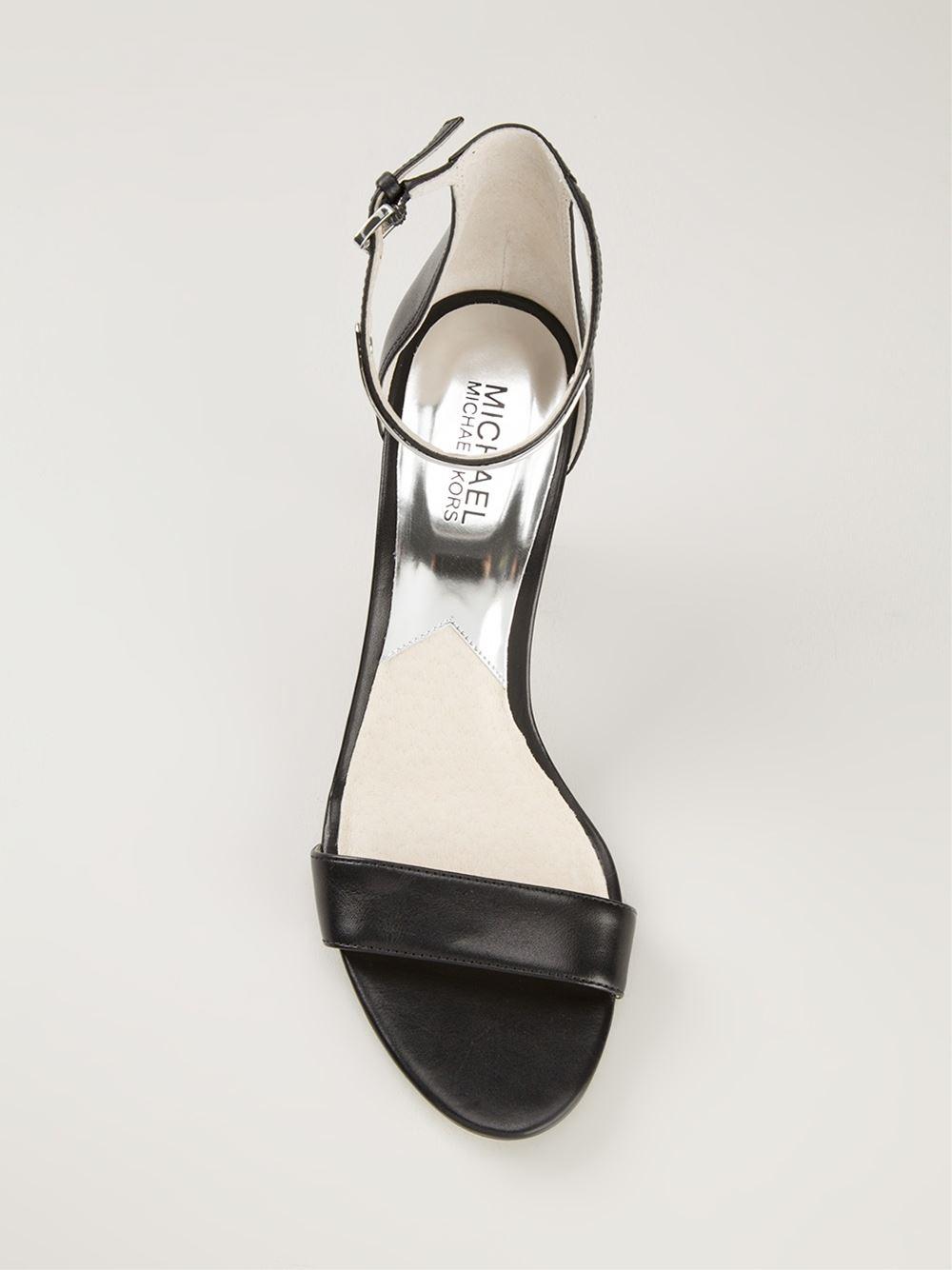 Kitten Heel Sandals Black