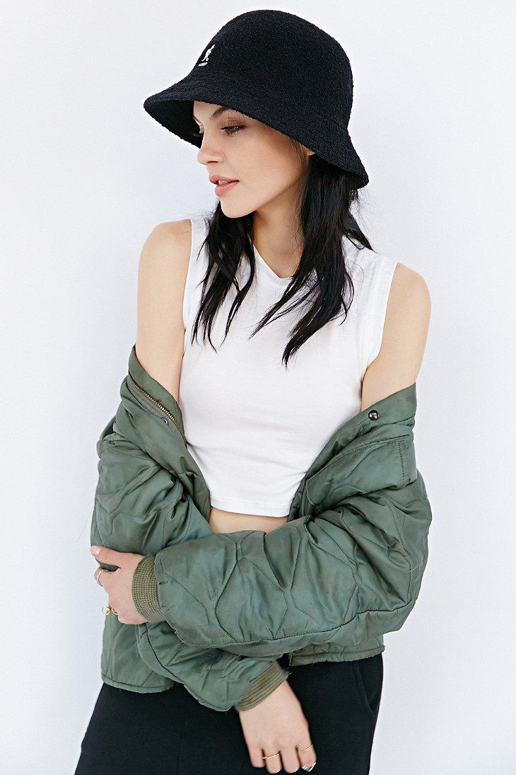 5683563529788c Kangol Winter Bermuda Bucket Hat in Black - Lyst