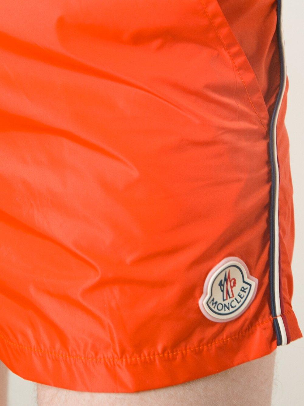 orange moncler shorts