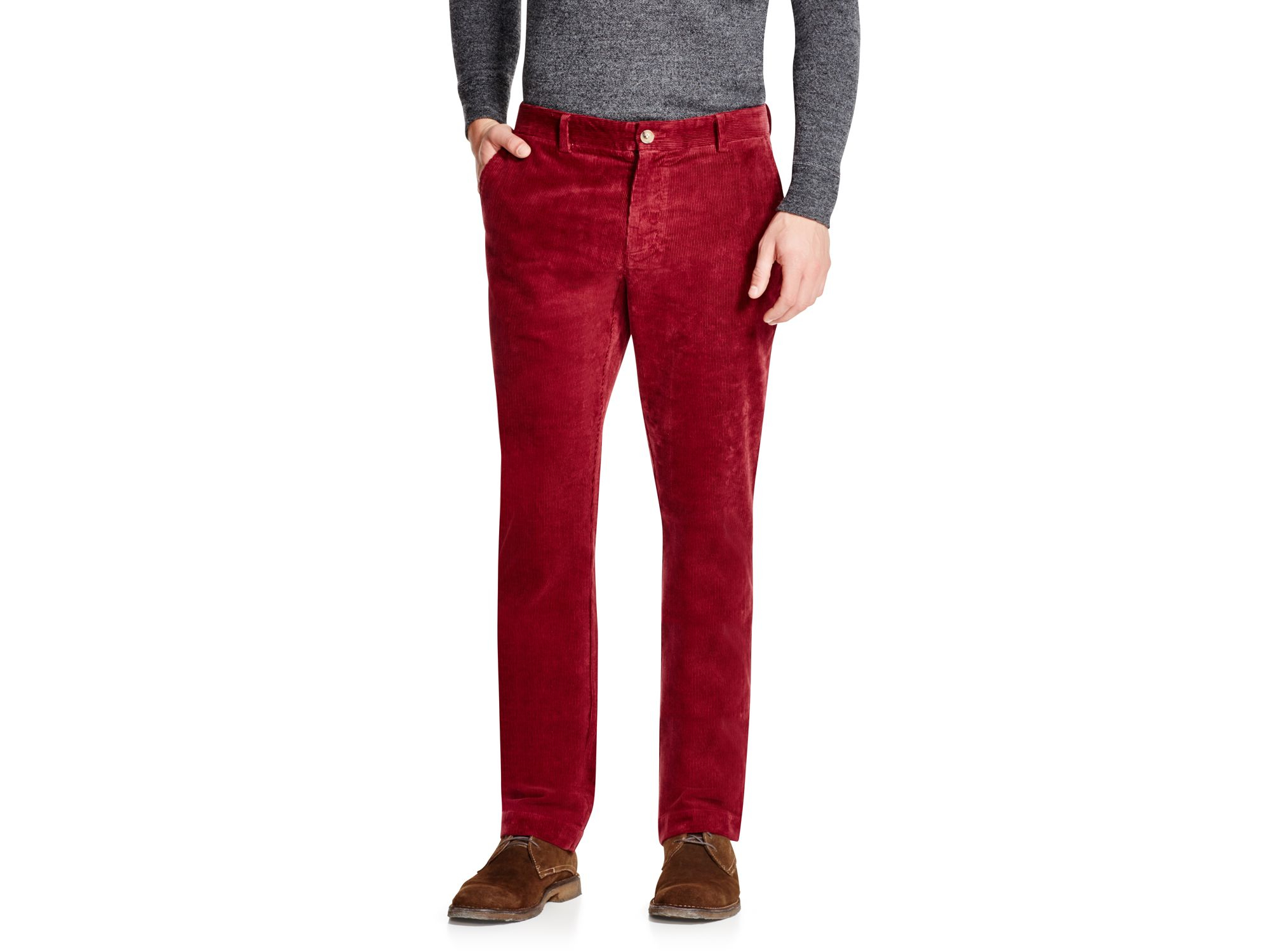 Vineyard vines Breaker Stretch Corduroy Slim Fit Pants in Red for ...