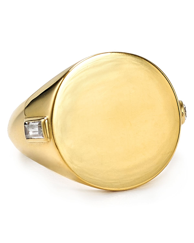 Elizabeth and james Serra Signet Pinky Ring in Metallic