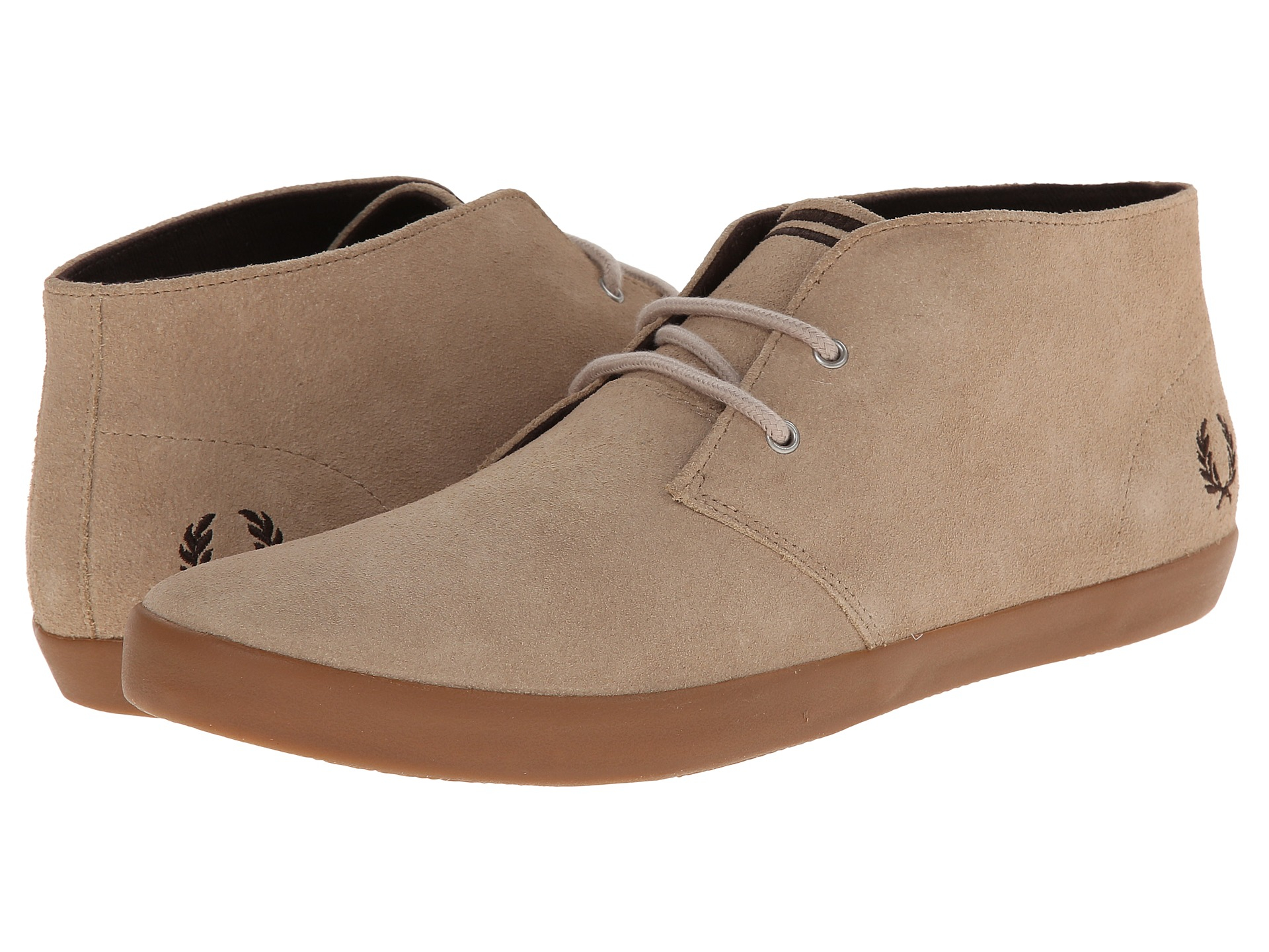 Fred Perry Menswear - Fred Perry Byron Mid Suede Shoes Beige