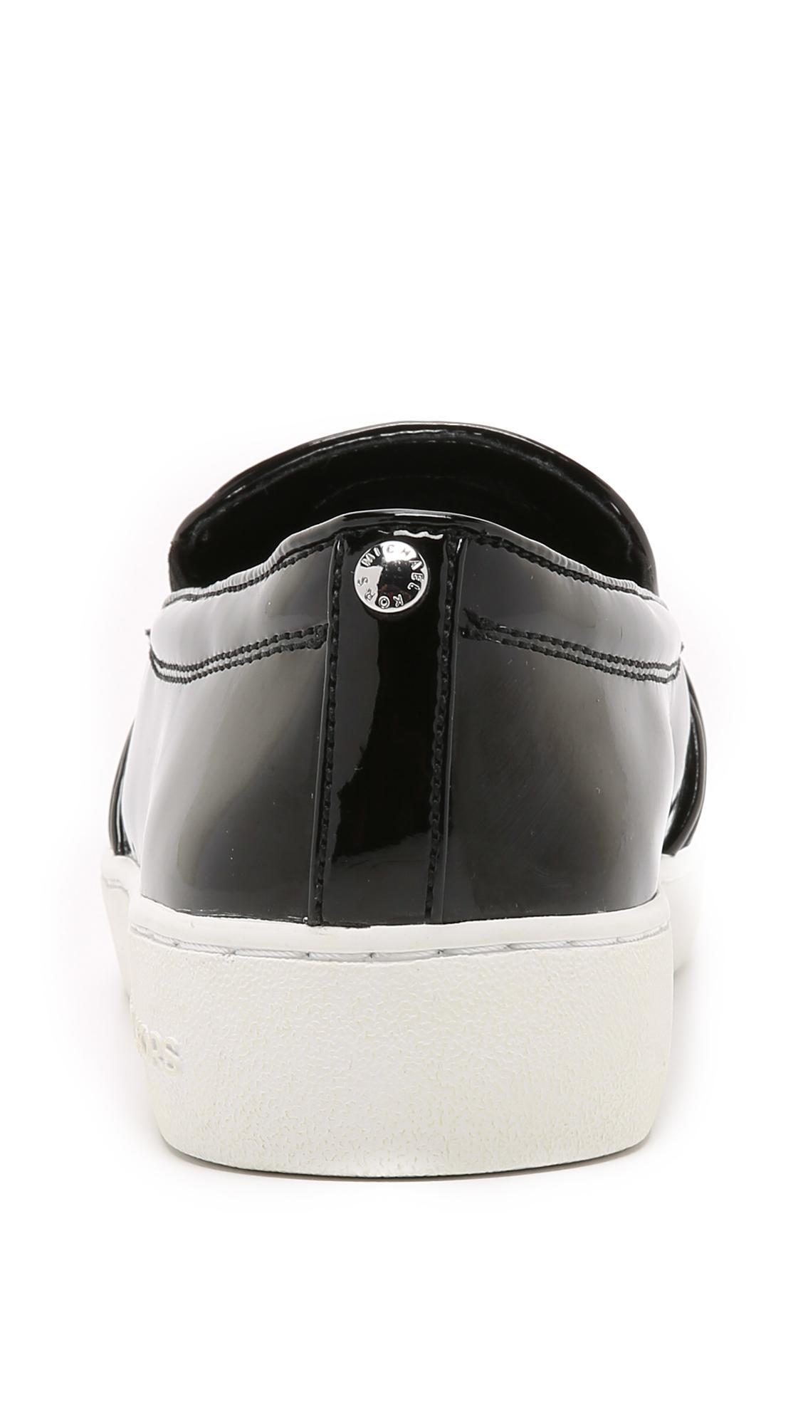 326ed2a77dea2 Lyst - MICHAEL Michael Kors Michelle Slip On Sneakers - Black in Black