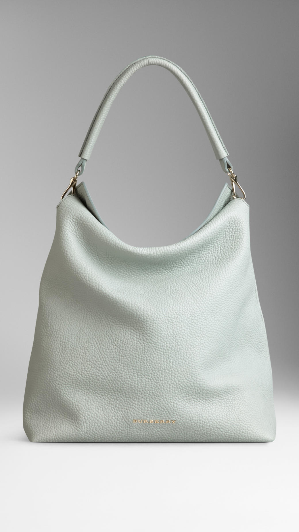 Burberry Medium Leather Hobo Bag in Blue | Lyst