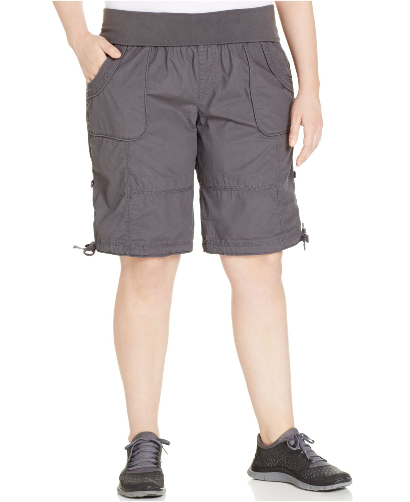 f2a19cbb01c04 Lyst - Calvin Klein Performance Roll-tab Shorts in Gray