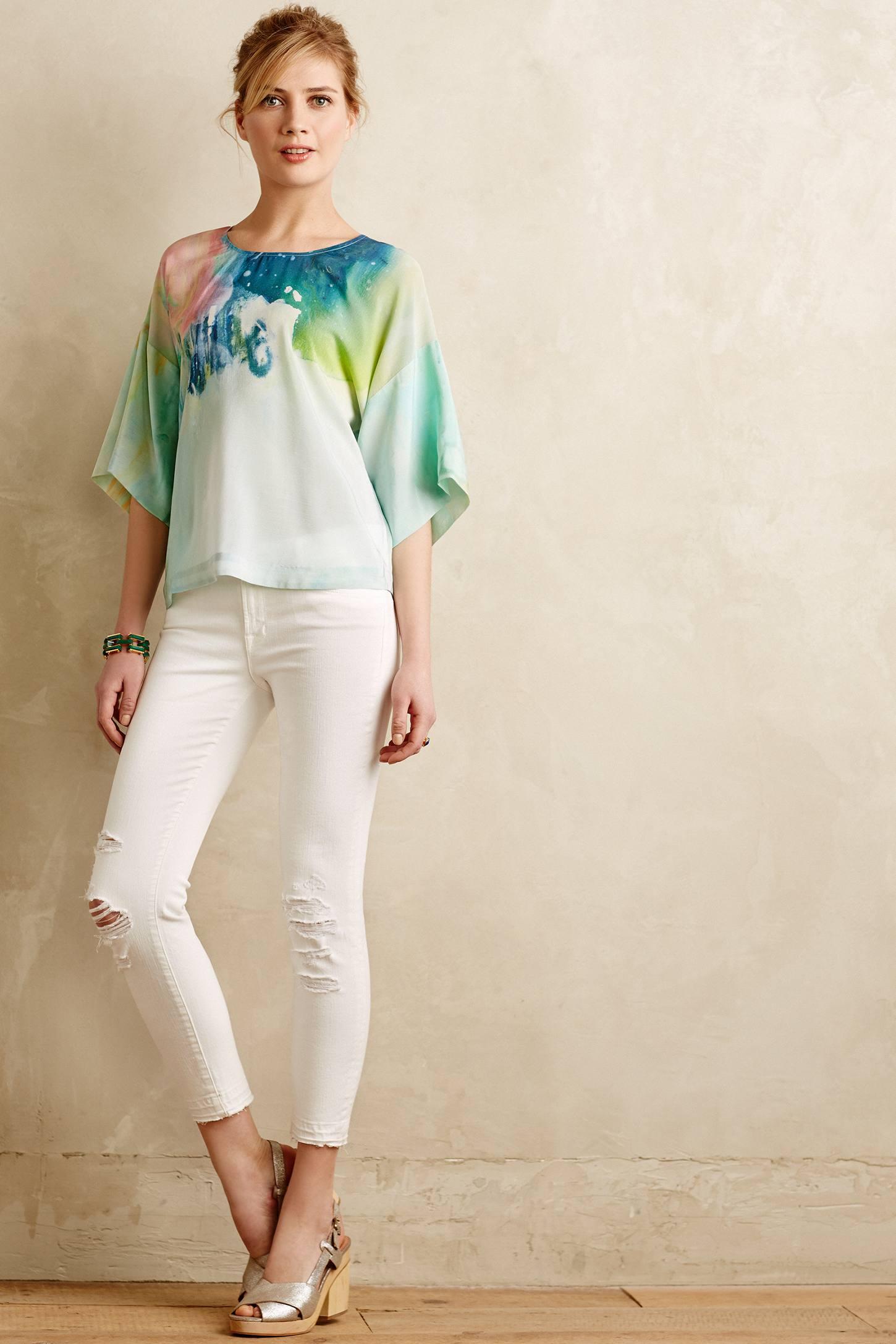 J brand cropped skinny jeans white