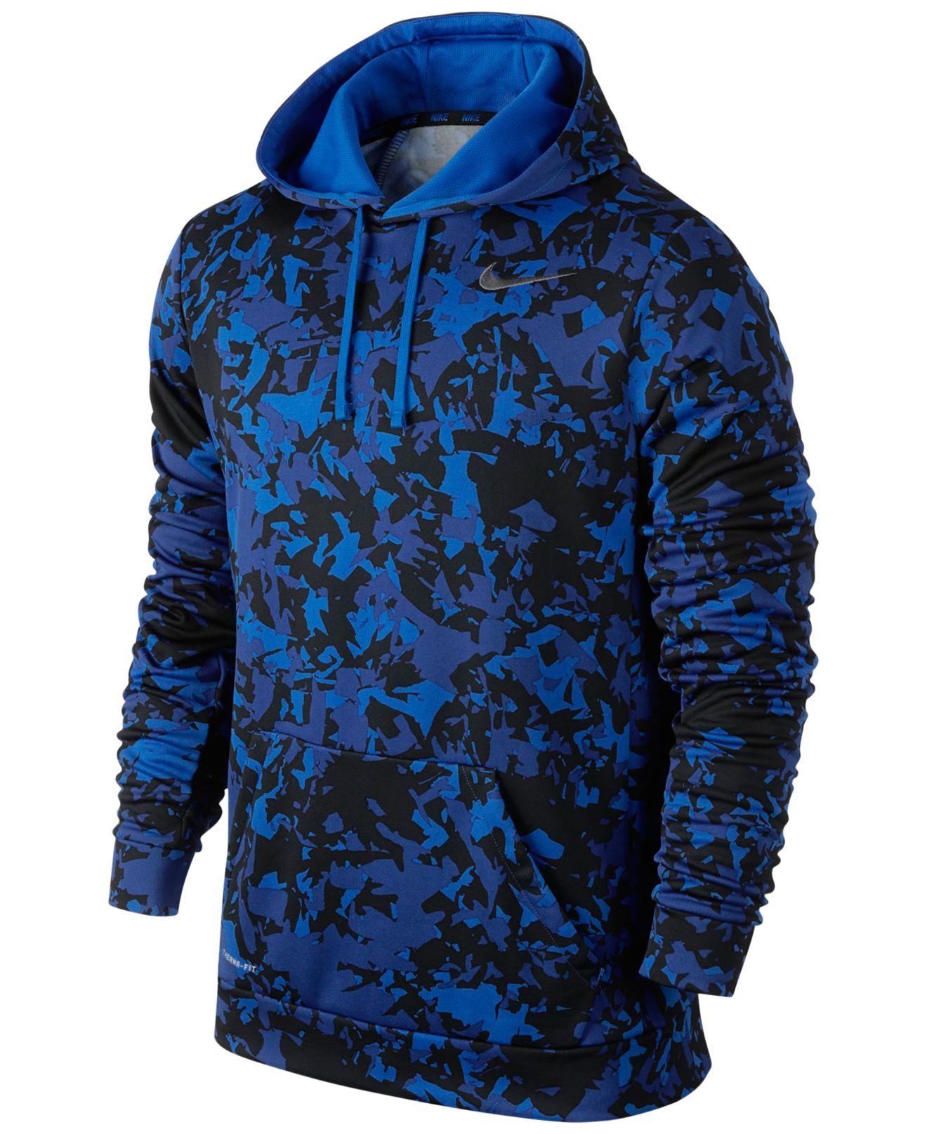 nike ko splinter pullover training hoodie in blue for men. Black Bedroom Furniture Sets. Home Design Ideas