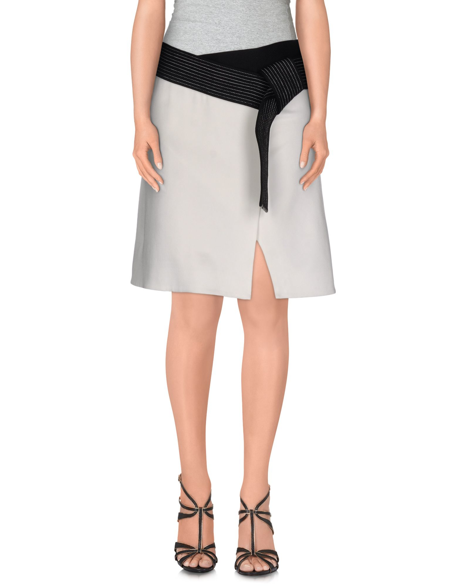 3 1 phillip lim mini skirt in white lyst