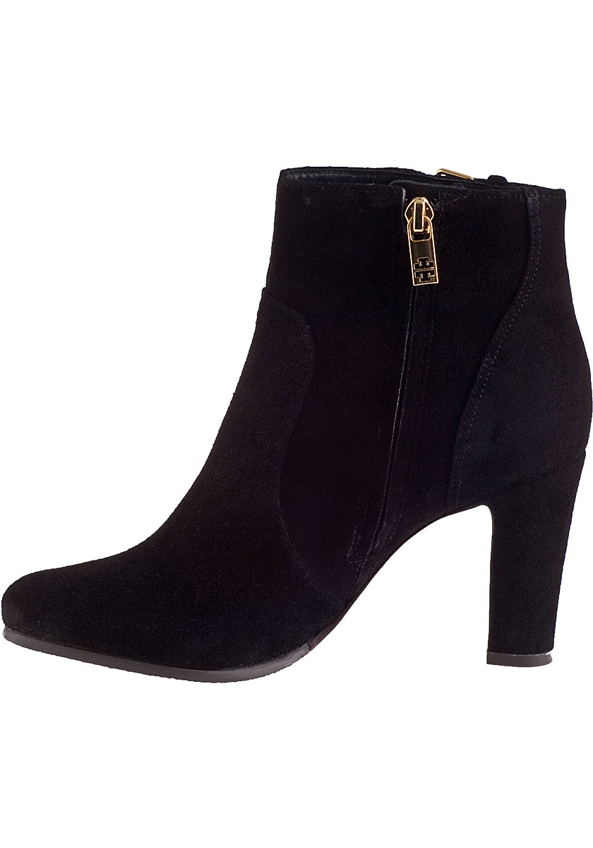 d59e5d81237367 Lyst - Tory Burch Milan Ankle Boot Black Suede in Black
