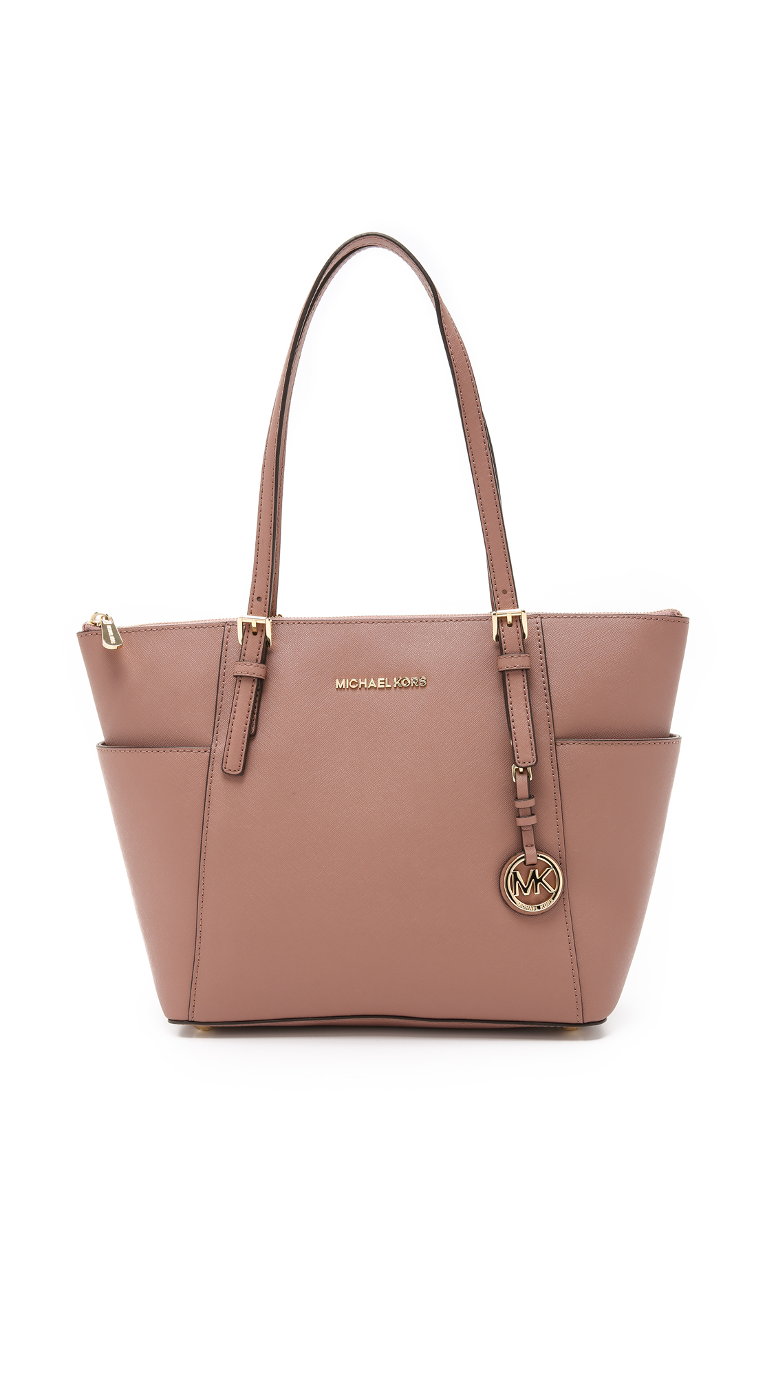 2f646699fe7c ... bags 466ad 91099 purchase lyst michael michael kors jet set top zip tote  dusty rose in pink 25cdd 2eb36 ...