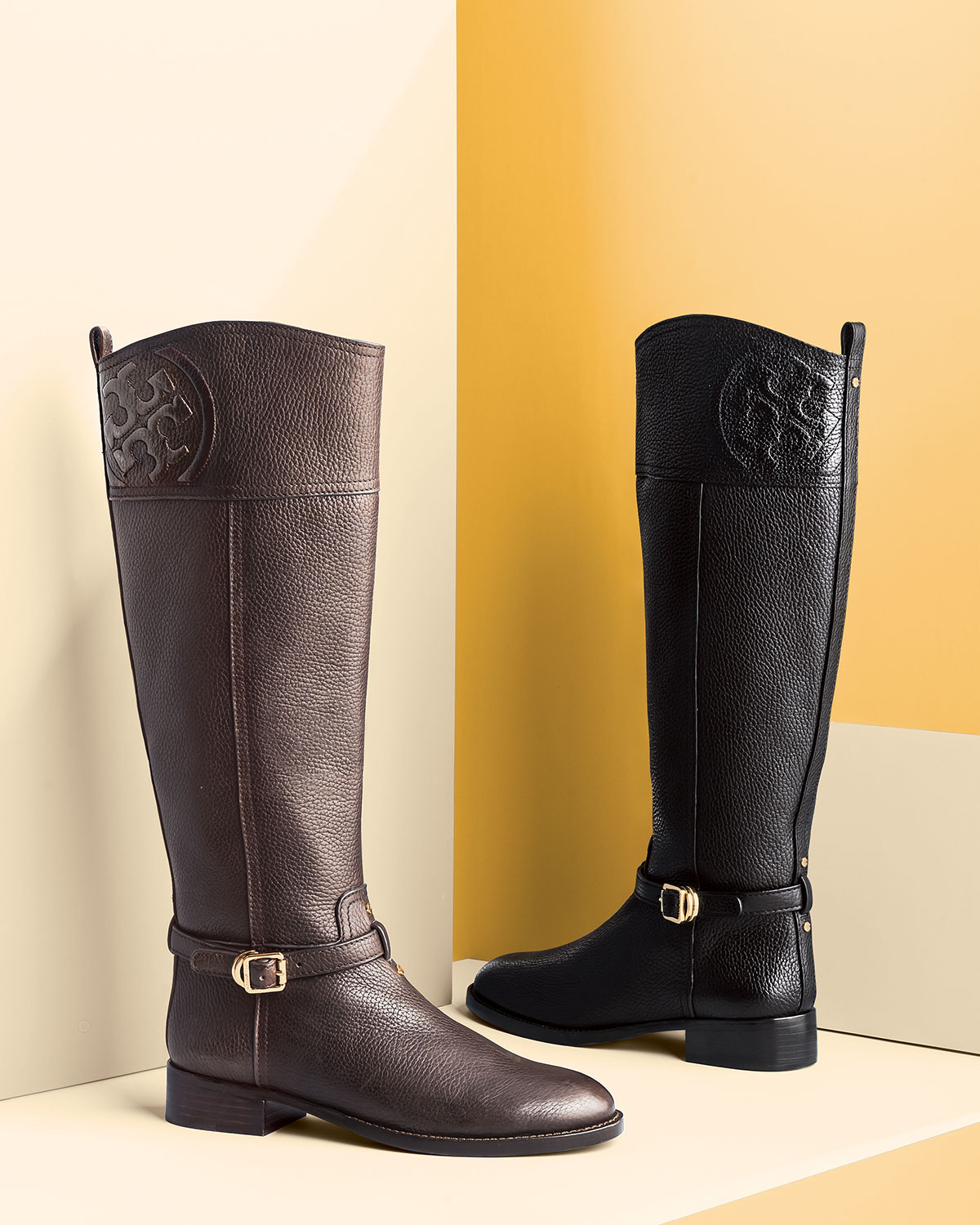 8cc2f2c34c0 netherlands tory burch brown leather riding boots 73b0b 0e6b5
