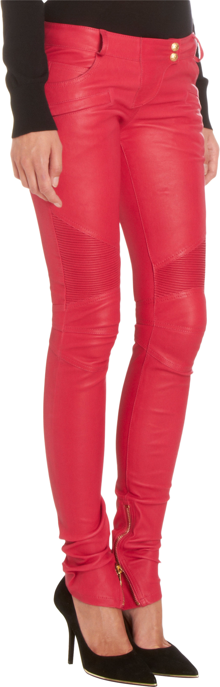 0f0aeddb Gallery. Previously sold at: Barneys Warehouse · Women's Red Leather Pants