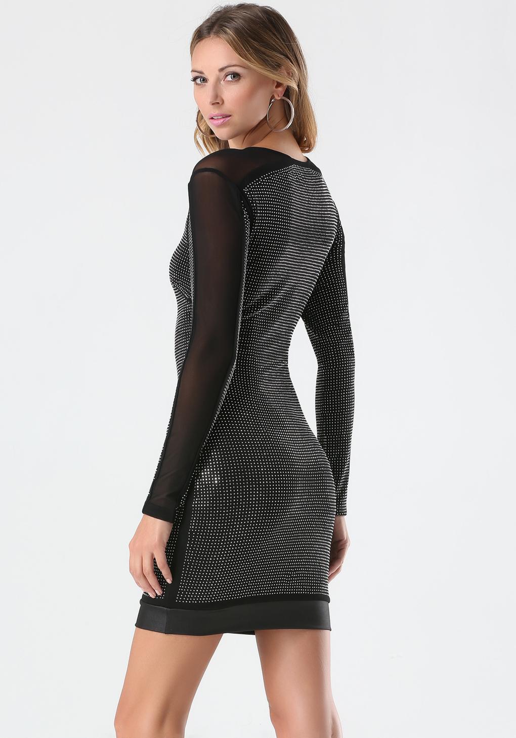 Lyst Bebe Studded Dress In Black