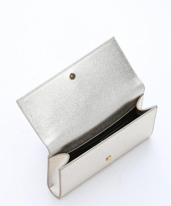 9754d33a192a ... size 40 92bcf 01ab8 Lyst - Saint Laurent Pale Gold Leather cassandre  Monogram Cl ...