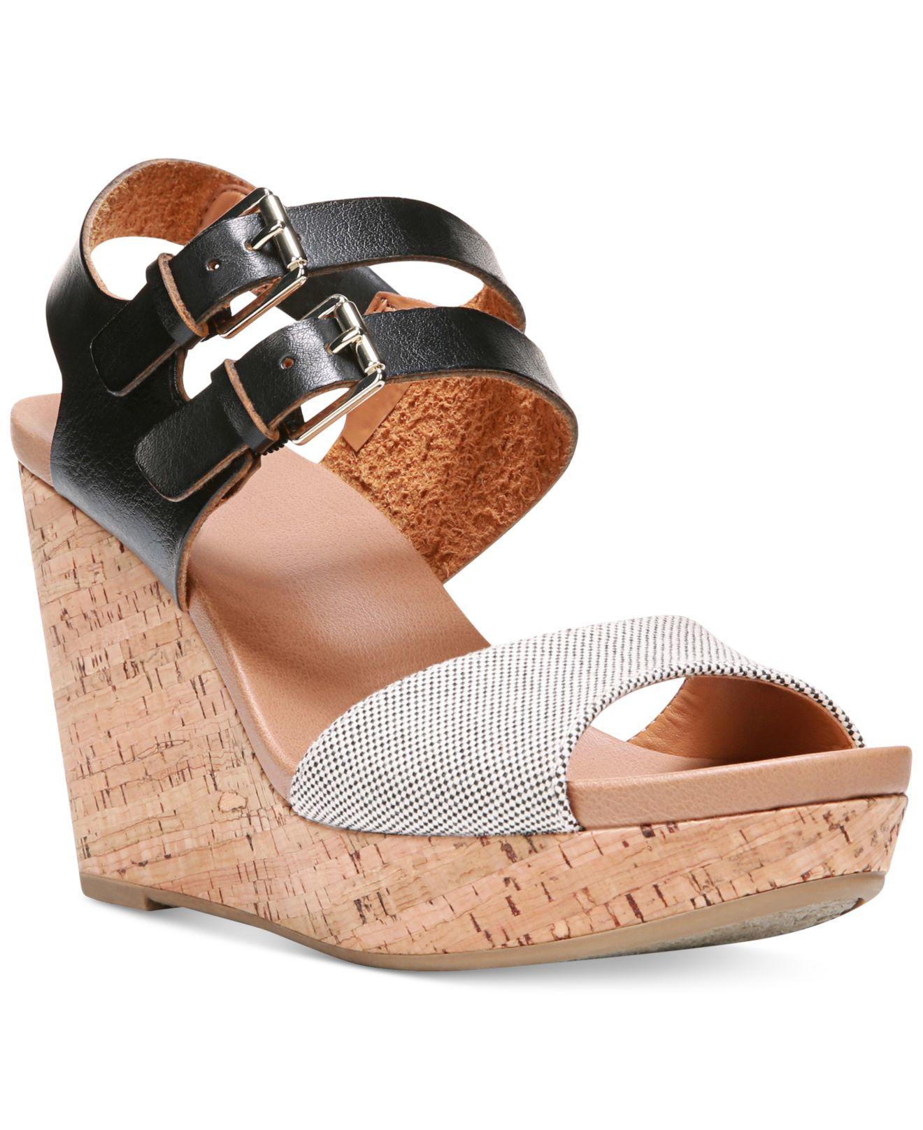 Dr Scholls Mashup Platform Wedge Sandals In White Lyst