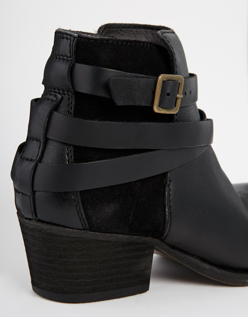 H by hudson H By Hudson Horrigan Black Leather Ankle Boots in ...
