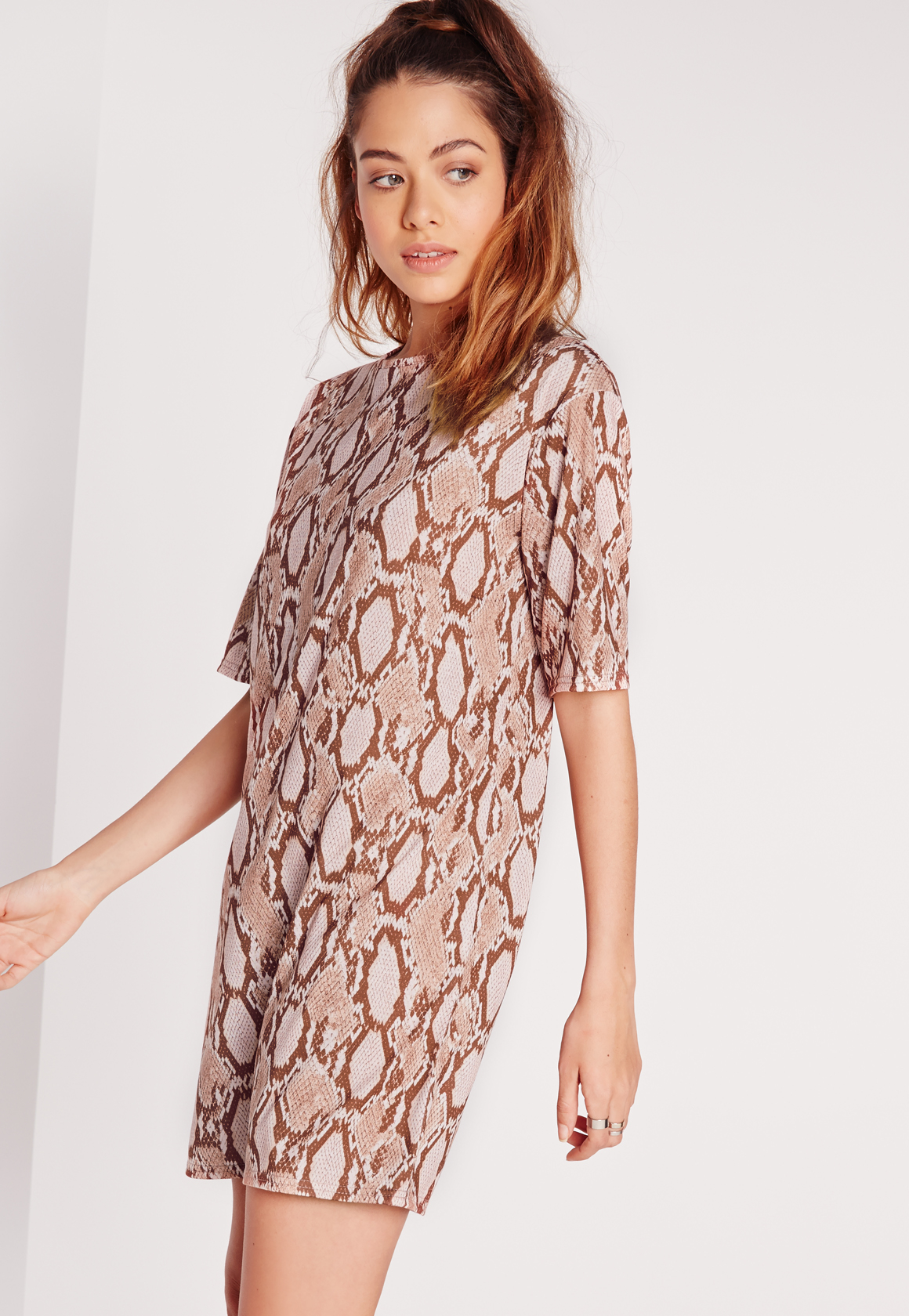 leopard print t shirt dress