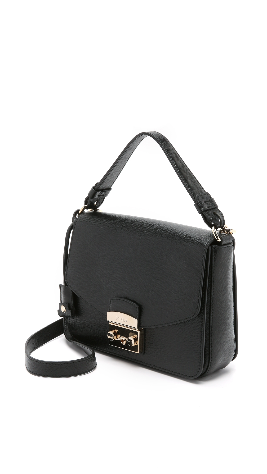 Lyst - Furla Metropolis Small Shoulder Bag in Black 677b4e20baa75