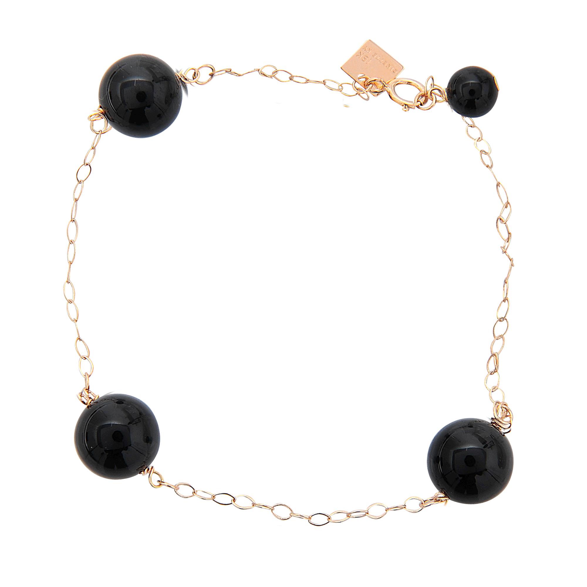 ginette ny bead chain onyx bracelet in black lyst