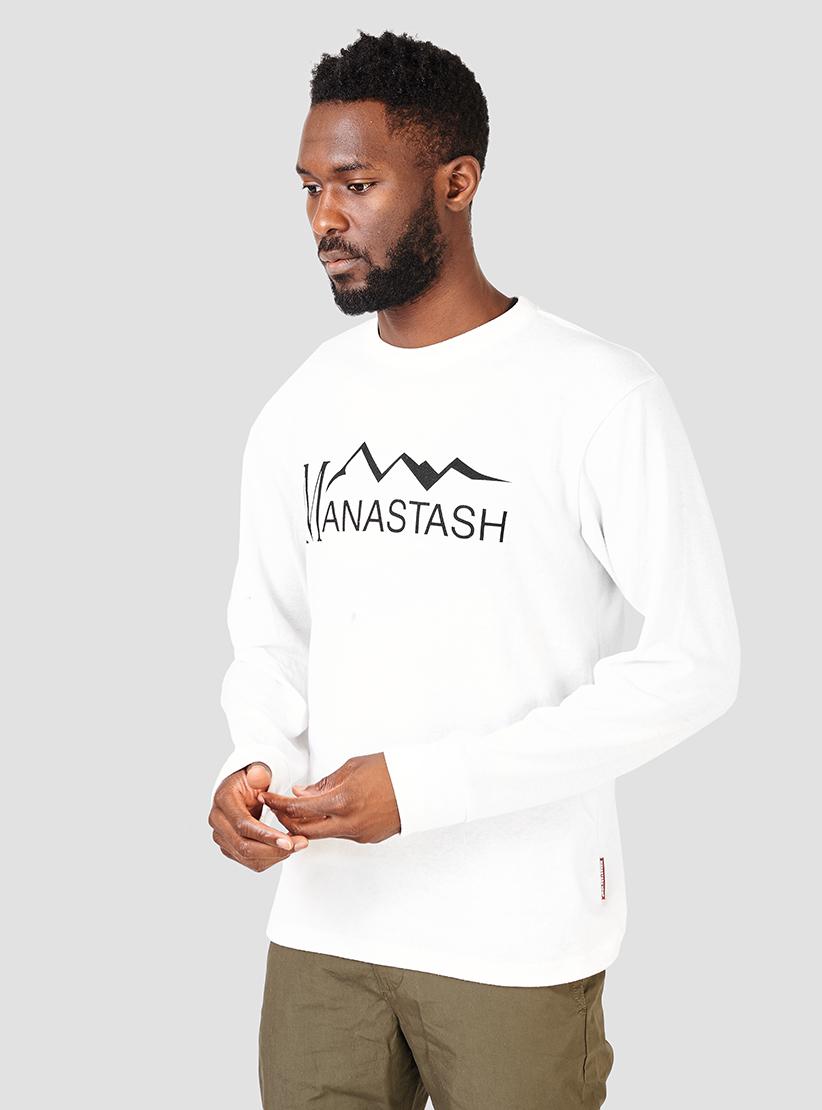 Lyst manastash hemp long sleeve t shirt white in white for Mens hemp t shirts