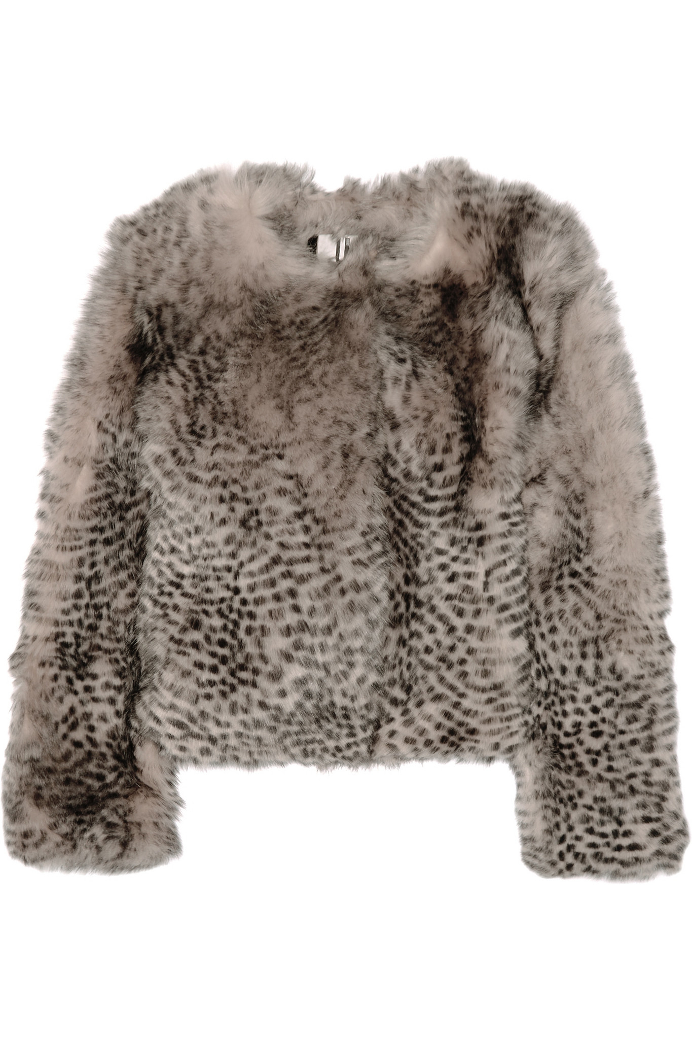 4206d8f33a0a Topshop Unique - D'arblay Chubby Animal-print Shearling Jacket ...
