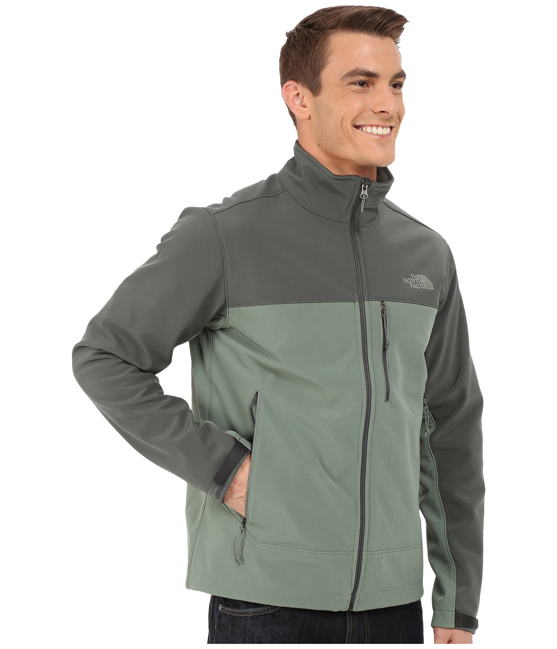 944fd3fd89 ... wholesale lyst the north face apex bionic jacket in green for men 45536  97f23