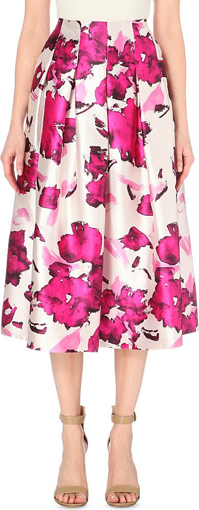 Oscar De La Renta Woman Floral-print Silk Top Magenta Size 0 Oscar De La Renta Sale Official Classic Cheap Price HY4hDv