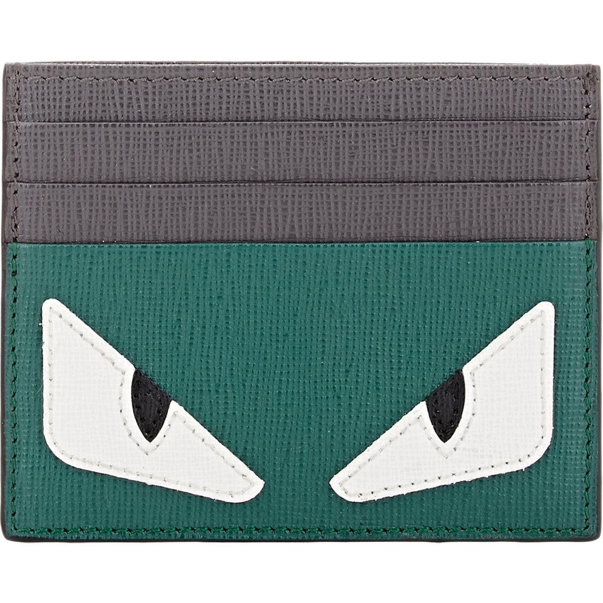 Fendi Woven Card Wallet