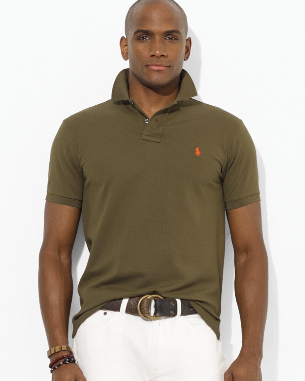 edef40a915e Ralph Lauren Polo Custom Stretch-Mesh Polo Shirt - Slim Fit in Green ...