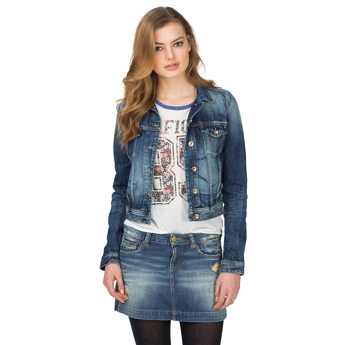 Tommy hilfiger Vivianne Mermst Jean Jacket in Blue (Denim) | Lyst