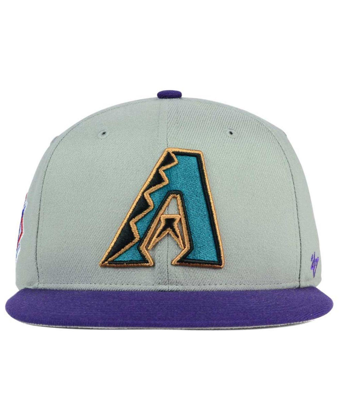 4cbfd359b74 ... australia lyst 47 brand arizona diamondbacks sure shot snapback cap in  gray 8b99e 51f6a