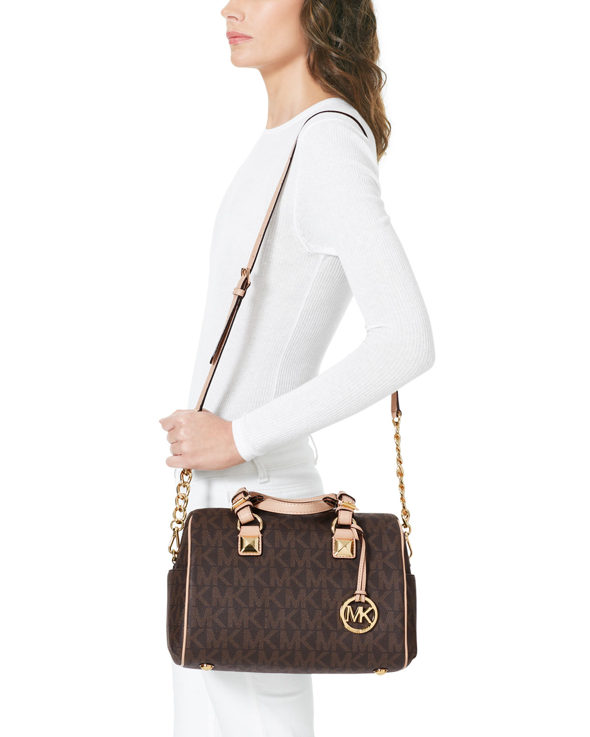 2bd28a464964 ... chain satchel available at nordstrom b7246 11939; sweden gallery.  previously sold at neiman marcus womens michael kors grayson 09fe7 f95df