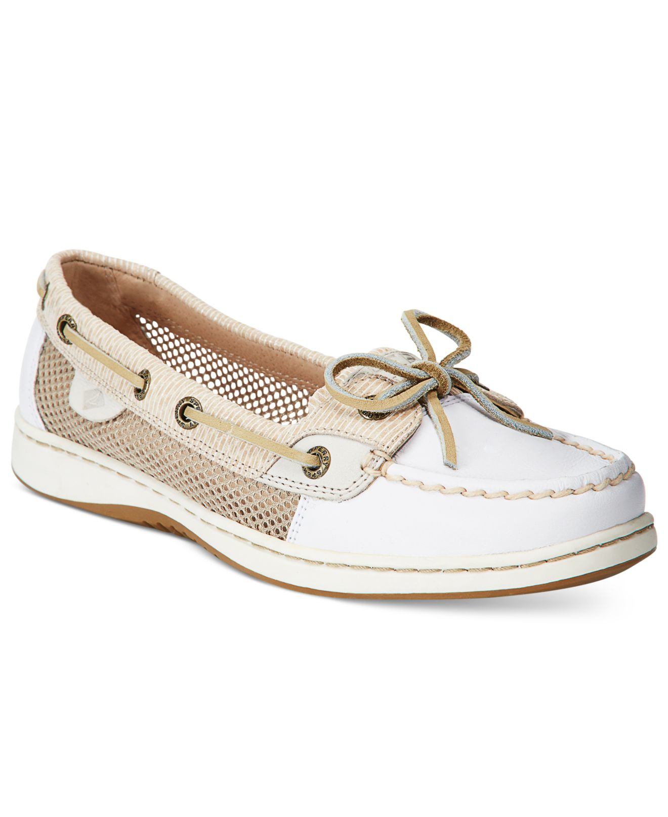 Lyst Sperry top sider Women s Angelfish Boat Shoes in White
