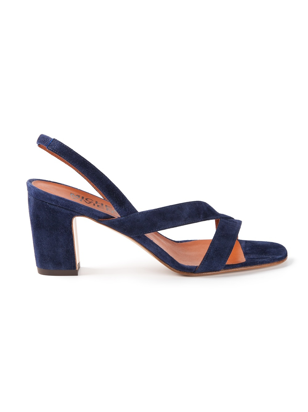 Lyst Michel Vivien Heeled Sandals In Blue