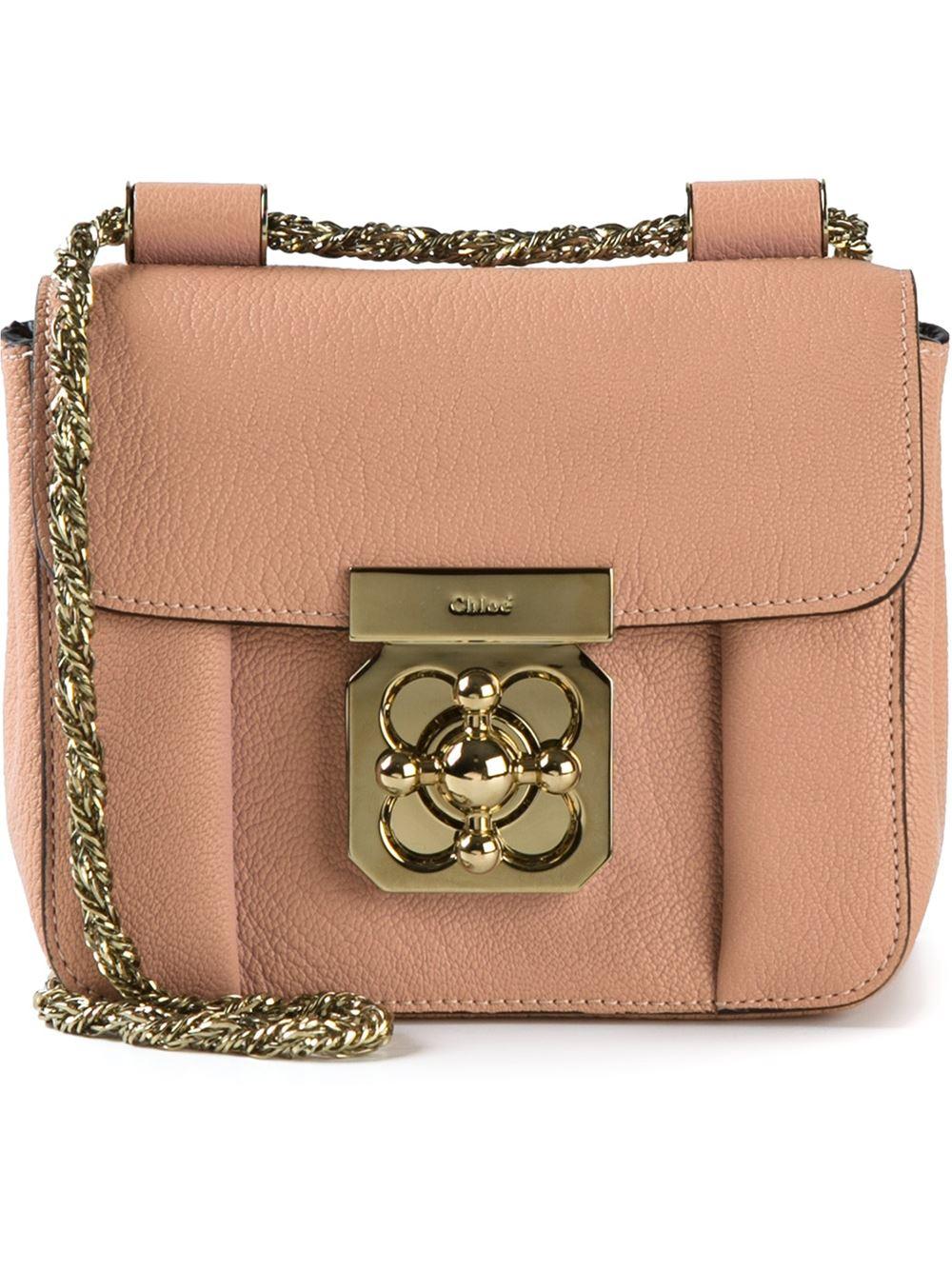 Chlo¨¦ Elsie Calf-leather Cross-body Bag in Pink (pink \u0026amp; purple) | Lyst