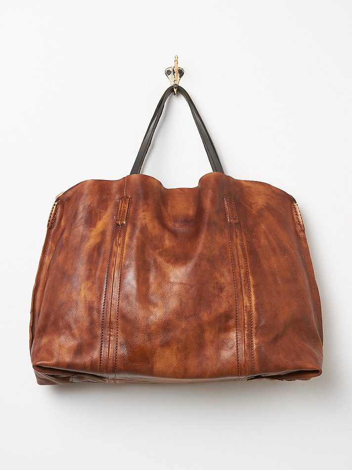 Lyst free people old trend womens dip dye leather tote