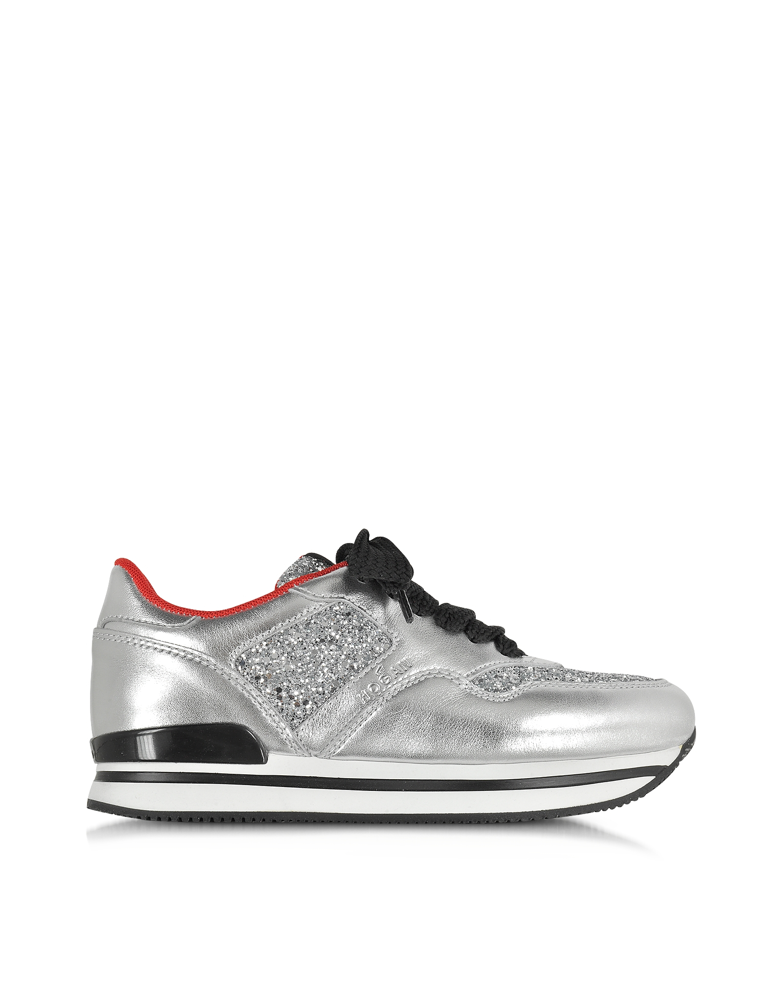 Interactive sneakers with silver glitter Hogan 100% Authentic Best Sale Discount Fast Delivery UYq79u