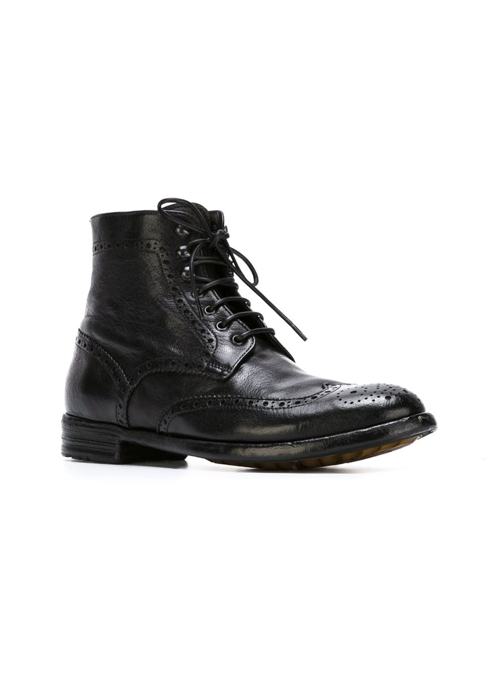 Simple Officine Creative Black Matte Leather Buckled Boots In Black | Lyst