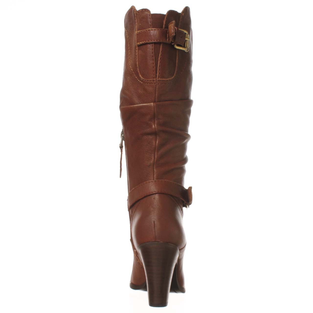 guess magy knee high boot in brown lyst