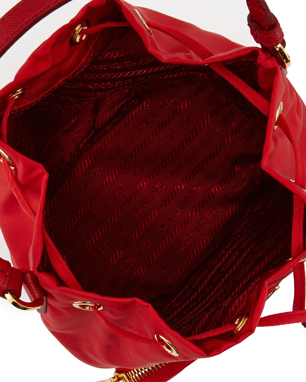 order prada bags online - Prada Tessuto Mini Bucket Crossbody Bag in Red (ROSSO) | Lyst