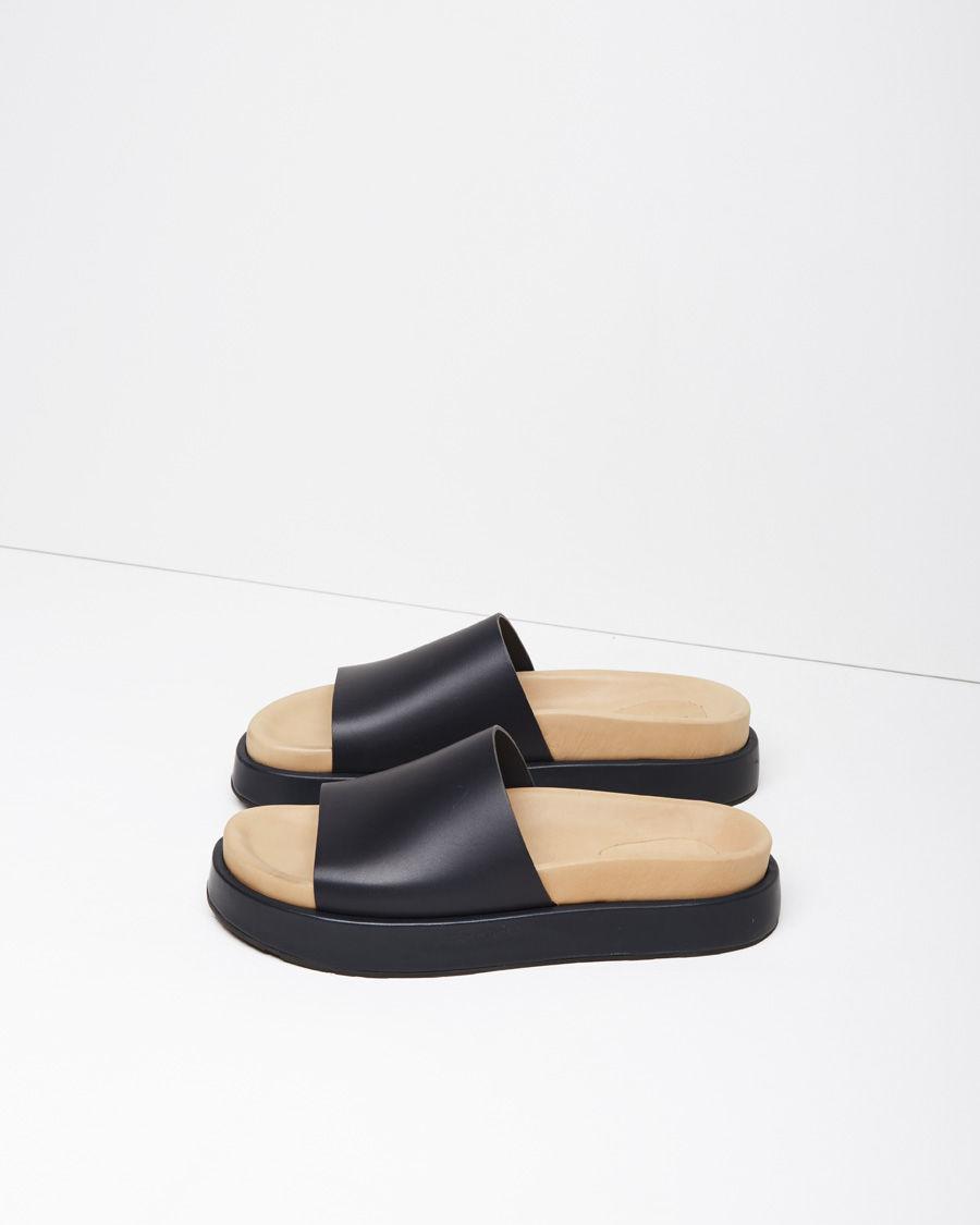 98503ad025 Jil Sander Platform Slide Sandal in Black - Lyst