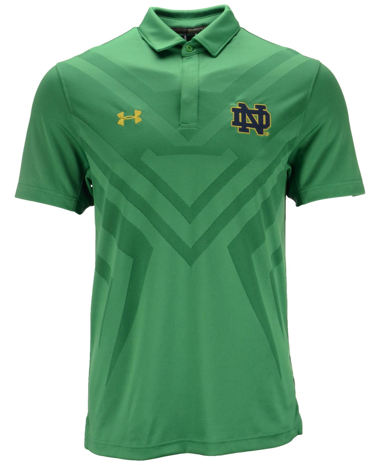 Under armour men 39 s notre dame fighting irish scout polo in for Under armour embroidered polo shirts