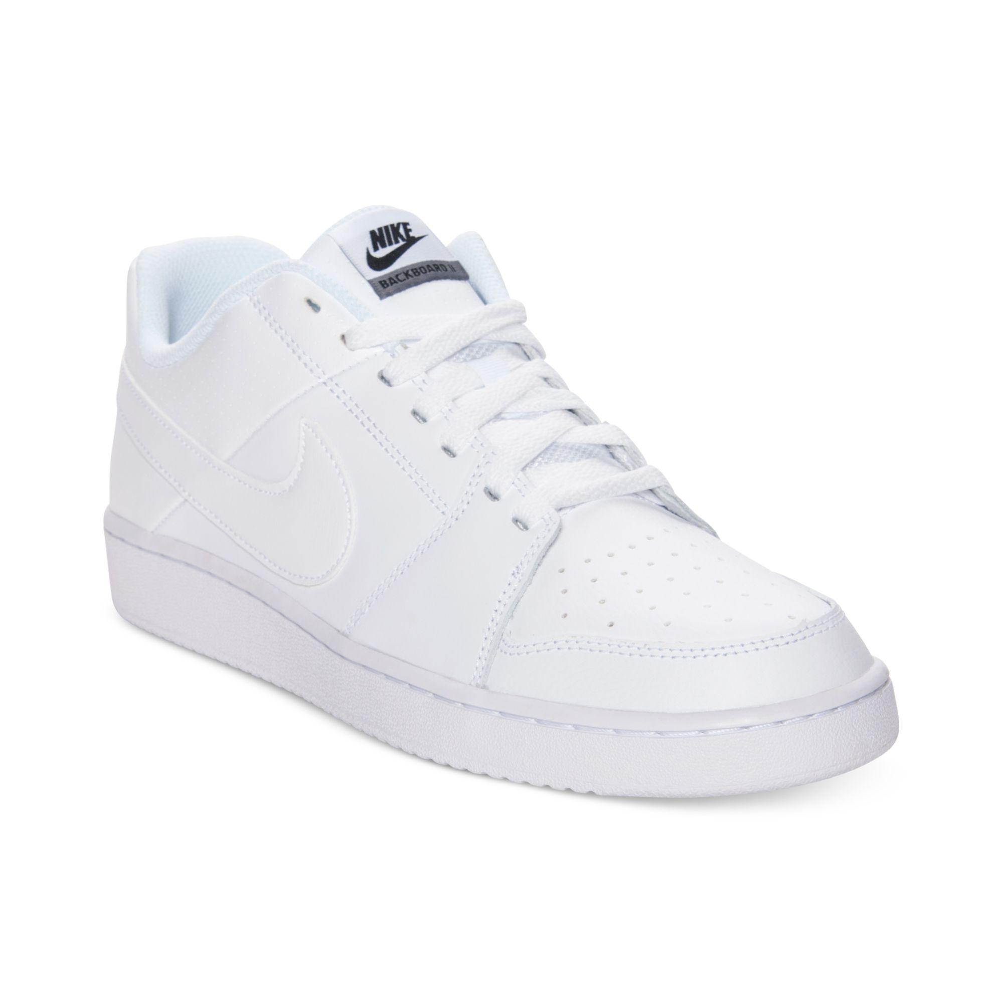 nike backboard low casual sneakers in white for lyst