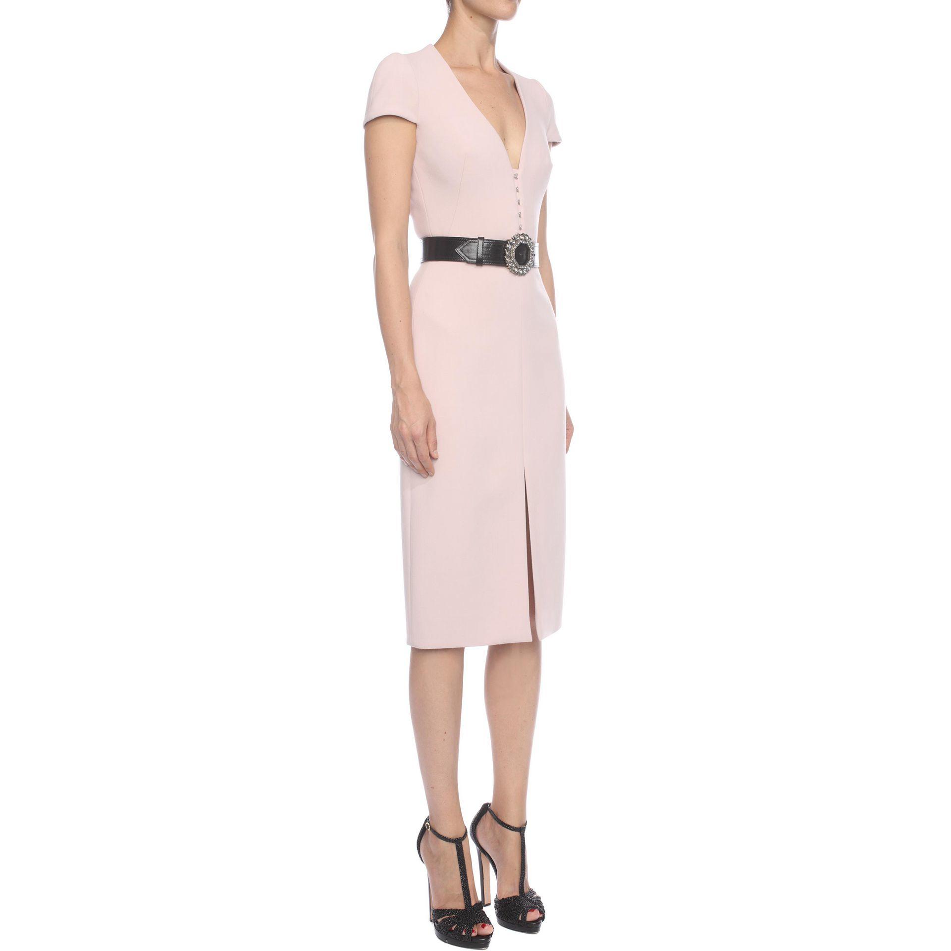 b50e5d509b3 Lyst - Alexander McQueen Hook Detail Pencil Dress in Pink