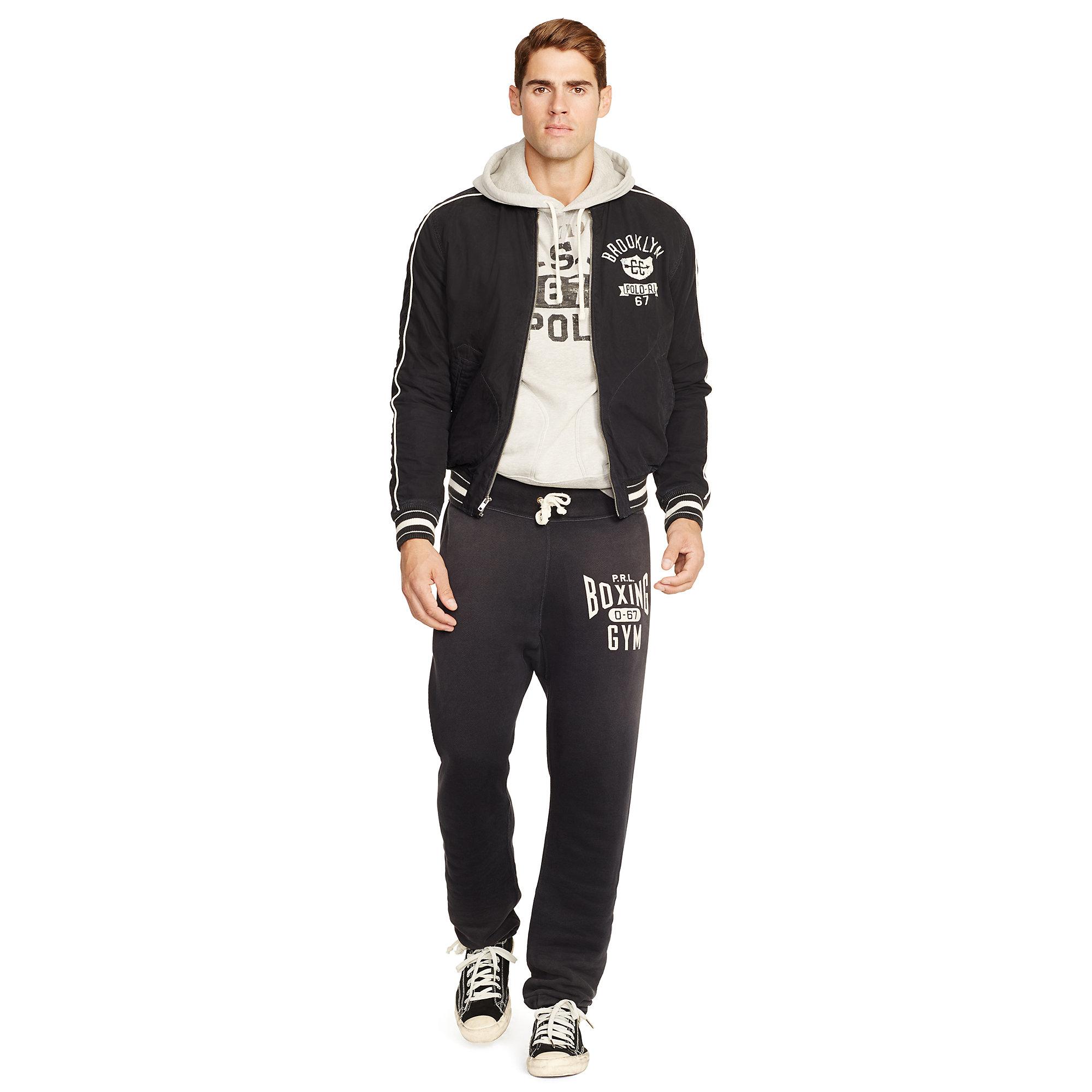 5446a6286eb932 Lyst - Polo Ralph Lauren Cotton Poplin Jacket in Black for Men