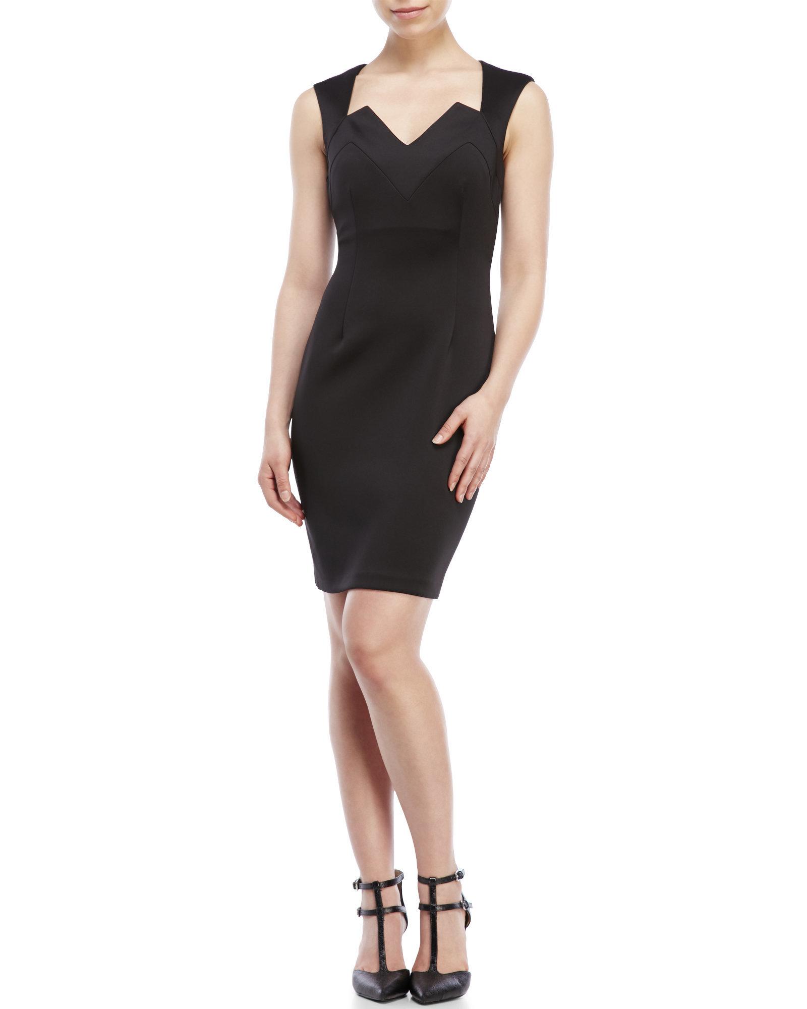 Connected apparel black lace dress