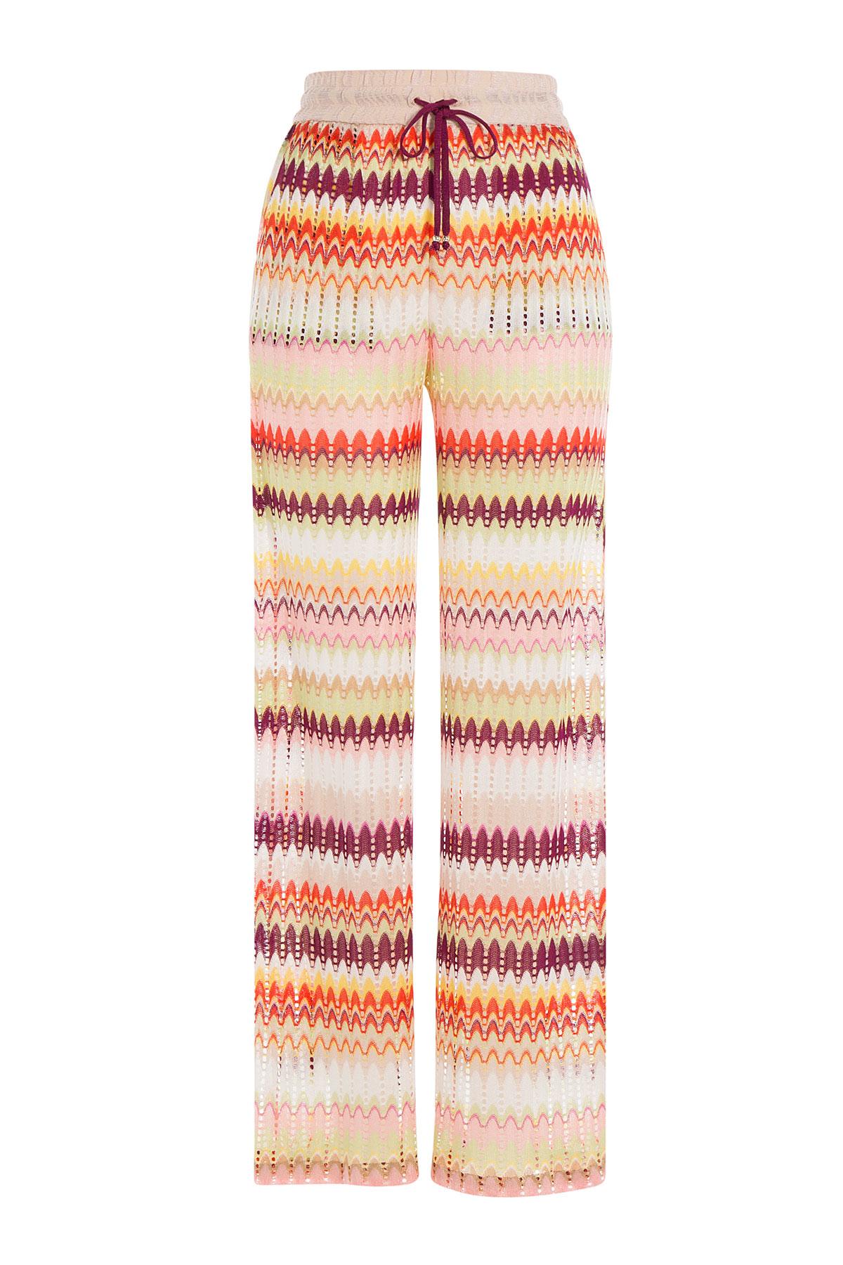 4a03addd3b61b Lyst - Missoni Crochet Knit Wide Leg Pants - Multicolor